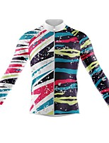 cheap -21Grams Men's Long Sleeve Cycling Jersey Spandex Polyester White 3D Graffiti Funny Bike Top Mountain Bike MTB Road Bike Cycling Quick Dry Moisture Wicking Breathable Sports Clothing Apparel