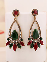 cheap -Women's Earrings Geometrical Floral Theme Joy Stylish Simple Earrings Jewelry Red For Daily Holiday Promise 1 Pair