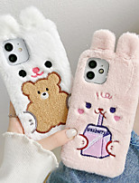 cheap -Phone Case For Apple Back Cover iPhone 12 Pro Max 11 SE 2020 X XR XS Max 8 7 Shockproof Dustproof Cartoon Animal Plush