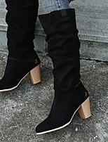 cheap -Women's Boots Chunky Heel Round Toe Rubber Yellow Khaki Black
