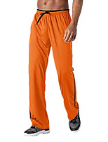 cheap -Men's Stylish Casual / Sporty Comfort Breathable Pants Daily Sports Pants Solid Color Full Length Drawstring Black Green Grey Orange White Black