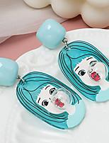 cheap -Women's Drop Earrings Earrings Classic Birthday Stylish Cartoon Classic Hip Hop Sweet Earrings Jewelry Blue For Formal Date Beach Promise Festival 1 Pair