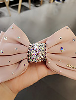 cheap -Women's Girls' For Party Evening Gift Prom Festival Handmade Crystal Rhinestone Fabric Blushing Pink Black Beige 1pc / Bowknot