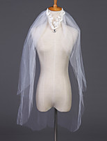 cheap -Two-tier Classic & Timeless Wedding Veil Elbow Veils with Pattern / Crystals / Rhinestones Tulle