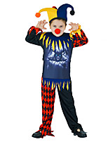cheap -Burlesque Clown Movie / TV Theme Costumes Pennywise Cosplay Costume Kid's Boys' Halloween Halloween Halloween Children's Day Festival / Holiday Terylene Red+Black Easy Carnival Costumes Graphic / Top