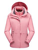 cheap -Women's Hiking Down Jacket Hiking 3-in-1 Jackets Ski Jacket Winter Outdoor Thermal Warm Waterproof Windproof Quick Dry Hoodie Windbreaker Trench Coat Skiing Ski / Snowboard Fishing Female-Khaki