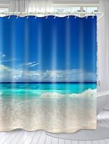 cheap -Baiyun Sky Sea Water Series Digital Printing Shower Curtain Shower Curtains  Hooks Modern Polyester New Design