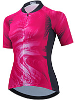 cheap -21Grams Women's Short Sleeve Cycling Jersey Summer Spandex Polyester Red Funny Bike Top Mountain Bike MTB Road Bike Cycling Quick Dry Moisture Wicking Breathable Sports Clothing Apparel / Stretchy