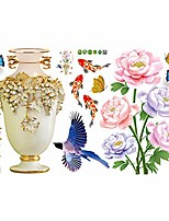cheap -wall sticker,flower vase wall sticker decal poster bedroom living room tv background decor 2#