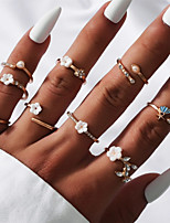 cheap -Ring Classic Gold Alloy Stylish Simple Natural 1 set One Size / Women's