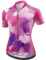 cheap -21Grams Women's Short Sleeve Cycling Jersey Summer Spandex Polyester Purple Graffiti Funny Bike Top Mountain Bike MTB Road Bike Cycling Quick Dry Moisture Wicking Breathable Sports Clothing Apparel
