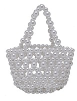 cheap -Women's Bags Synthetic Evening Bag Pearls Chain Pearl Party Wedding Evening Bag Chain Bag Beige