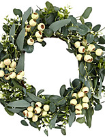 cheap -1 Piece Jewelry 50CM Simulation Leaf Door And Window Decorative Wreath With Hook Set
