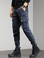 cheap -Men's Work Pants Hiking Cargo Pants Track Pants 6 Pockets Military Summer Outdoor Windproof Ripstop Breathable Multi Pockets Spandex Cotton Beam Foot Bottoms Grey Khaki Green Black Hunting Fishing