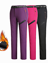 cheap -Women's Fleece Lined Pants Hiking Pants Trousers Softshell Pants Winter Outdoor Thermal Warm Waterproof Portable Windproof Pants / Trousers Violet Black Rose Red Fishing Climbing Running M L XL XXL