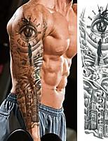 cheap -3 Pcs Temporary Tattoos Eco-Friendly Disposable Brachium Leg Card Paper