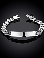 cheap -Men's Bracelet Classic Fashion Stylish Silver Plated Bracelet Jewelry Silver For Anniversary Gift Date Festival