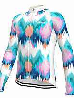 cheap -21Grams Men's Long Sleeve Cycling Jersey Spandex Polyester Green Retro Funny Bike Top Mountain Bike MTB Road Bike Cycling Quick Dry Moisture Wicking Breathable Sports Clothing Apparel / Athleisure