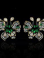 cheap -Women's AAA Cubic Zirconia Earrings Geometrical Fashion Luxury Gothic Fashion European Earrings Jewelry Black For Halloween Party Evening Street Gift Festival 1 Pair