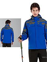 cheap -Men's Hiking 3-in-1 Jackets Ski Jacket Hiking Fleece Jacket Winter Outdoor Thermal Warm Windproof Fleece Lining Lightweight Outerwear Windbreaker Trench Coat Skiing Fishing Climbing Male white Male