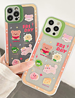 cheap -Phone Case For Apple Back Cover iPhone 12 Pro Max 11 X XR XS Max iphone 7Plus / 8Plus Shockproof Dustproof Word / Phrase Animal TPU