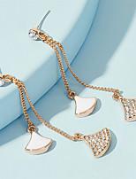 cheap -Women's Drop Earrings Earrings fan earrings Classic Fashion Stylish Simple Classic Sweet Imitation Diamond Earrings Jewelry Gold For Party Evening Gift Date Beach Festival 1 Pair