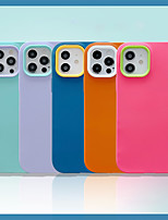 cheap -Phone Case For Apple Back Cover iPhone 12 Pro Max 11 X XR XS Max iphone 7Plus / 8Plus Shockproof Dustproof Solid Colored Silicone