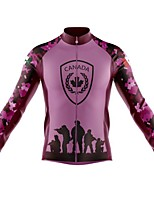cheap -21Grams Men's Long Sleeve Cycling Jersey Spandex Polyester Green Rose Red Funny Bike Top Mountain Bike MTB Road Bike Cycling Quick Dry Moisture Wicking Breathable Sports Clothing Apparel / Athleisure