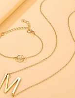 cheap -Women's Jewelry Set Classic Happy Elegant Fashion Holiday European Sweet Earrings Jewelry Gold For Anniversary Gift Sports Prom Beach 1 set