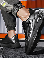 cheap -Men's Sneakers Lace up Casual Vintage British Daily Office & Career PU Non-slipping Wear Proof White Black Spring Summer