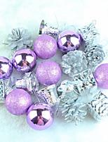 cheap -Christmas Decorations Christmas Tree Decorations 20 Pieces Of Purple Christmas Toto Bag Pendant Christmas Pendant