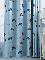 cheap -Two Panel Children's Room Cartoon Style Car Printing Blackout Curtains Living Room Bedroom Dining Room Children's Room Thermal Insulation Curtains