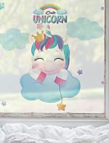 cheap -Cartoon Unicorn Pattern Matte Window Film Cling Vinyl Thermal-Insulation Privacy Protection Home Decor For Window Cabinet Door Sticker Window Sticker - 58*60CM