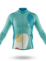 cheap -21Grams Men's Long Sleeve Cycling Jersey Spandex Polyester Mint Green Funny Bike Top Mountain Bike MTB Road Bike Cycling Quick Dry Moisture Wicking Breathable Sports Clothing Apparel / Stretchy