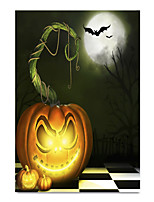 cheap -Wall Art Canvas Prints Painting Artwork Picture Halloween White Moonlight Sky Home Decoration Decor Rolled Canvas No Frame Unframed Unstretched
