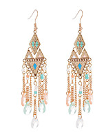 cheap -Women's Earrings Fashion Classic Feather Earrings Jewelry Rainbow color / Blue / Blushing Pink For Street 1 Pair