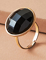 cheap -Adjustable Ring Geometrical Black Plastic Alloy Artistic Simple Gothic 1pc One Size / Women's