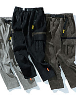 cheap -Men's Work Pants Hiking Cargo Pants Track Pants Drawstring Military Winter Summer Outdoor Windproof Ripstop Breathable Multi Pockets Elastic Waist Bottoms Grey Black Coffee Camping / Hiking / Caving