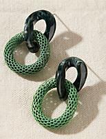 cheap -Women's Drop Earrings Earrings Classic Stylish Simple Romantic Modern Sweet Earrings Jewelry Green For Party Evening Gift Beach Festival 1 Pair