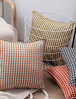 cheap -factory direct knitting plaid pillow living room sofa cushion bedroom bedside pillow cover chair waist pillow wholesale