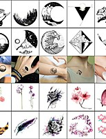 cheap -20 Pcs Temporary Tattoos Smooth Sticker Safety Face Body Wrist Water-Transfer Sticker Decal-Style Temporary Tattoos