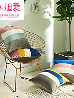cheap -xu ai new dutch velvet contrast color stitching pillowcase sofa cushion cover without core cross-border amazon home furnishing