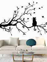 cheap -Animals Plants Wall Stickers Bedroom Living Room Removable Pre-pasted PVC Home Decoration Wall Decal 1pc