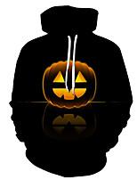 cheap -Cosplay Adults' Women's Halloween Festival Halloween Festival / Holiday Terylene Black Women's Men's Easy Carnival Costumes Pumpkin / Hoodie