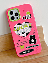 cheap -Phone Case For Apple Back Cover iPhone 12 Pro Max 11 X XR XS Max iphone 7Plus / 8Plus Shockproof Dustproof Cartoon Graphic Silicone