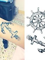 cheap -10PCS Small Fresh Temporary Tattoos Stickers Hand Henna Edges Tattoos For Kids Child Men Women Paste Arm Leg Body Fake Tattoo Sticker
