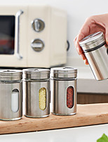 cheap -Stainless Steel Seasoning Jar Sprinkler Barbecue Spice Jar Pepper Bottle Toothpick Holder Salt Pot Kitchen Supplies