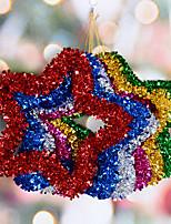 cheap -Christmas Decorations 34cm Five-star Garland Pendant Christmas Window Door Holiday Scene Decoration