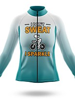 cheap -21Grams Women's Long Sleeve Cycling Jersey Spandex Polyester Blue+White Gradient Funny Bike Top Mountain Bike MTB Road Bike Cycling Quick Dry Moisture Wicking Breathable Sports Clothing Apparel