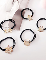 cheap -Women's Hair Ties For Anniversary Street Birthday Party Festival Head Mismatched Cat's Eye Resin Alloy As Picture 3pcs